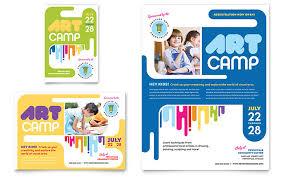kids art camp flyer u0026 ad template design