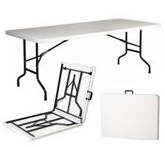 tavola pieghevole tavolo tavolino pieghevole in dura resina 244x76xh74 cm per sagra