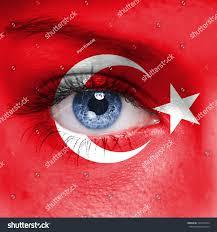 Flag Face Turkey Flag On Woman Face Stock Photo 129471644 Shutterstock