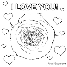 flower hearts coloring pages 473694
