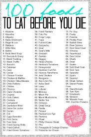 alphabetical food list