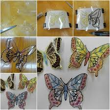 Glitter Butterfly Christmas Decorations by Diy Plastic Bottle Butterflies Are Gorgeous Plastic Bottles