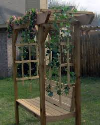 park style arbor bench