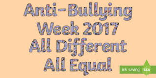 anti bullying week second level display lettering difference