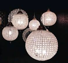 Glass Balls Chandelier Crystal Ball Chandeliers Decorating Ideas Interior Design Ideas