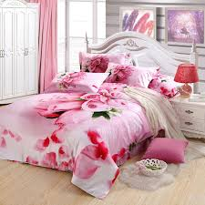 Girls Queen Size Bedding by Pink Rose Romantic Love Heart Cute And Elegant Chic Girls Full