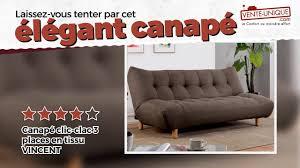 canap clic clac confortable canapé clic clac vincent en tissu