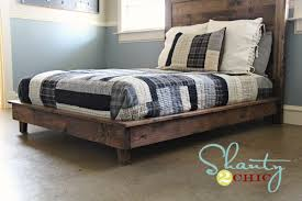 How To Make A King Size Platform Bed With Pallets by Rustic Bed Frames Diy Frame Decorations