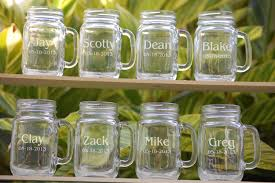 personalized mugs for wedding 8 wedding party personalized jar mugs wedding favors