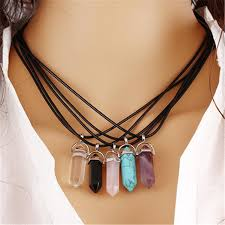 natural stone statement necklace images 2017 fashion natural stone opal necklaces amp pendants silver jpg