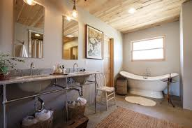 Shabby Chic Pendant Lighting by Freestanding Bathtub In Bathroom Shabby Chic With Carrara Marble