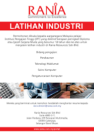 format resume kerajaan rania resources sdn bhd our customers