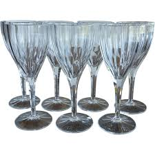 vintage wine glass goblet nachtmann crystal aspen pattern 9