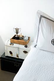 Trunk Bedside Table by 3 Easy Space Saving Hacks For Small Bedrooms U2014 Me And Mr Jones