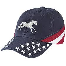 stars and stripes cap western wear equestrian inspired clothing
