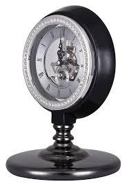 horloge de bureau design horloge de bureau noir avec engrenages luxueuse retro steunk