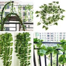 2m artificial ivy grape vine green leaves garland home garden