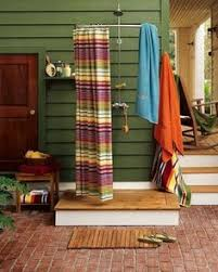 Outdoor Shower Curtains Celebrate Memorial Day With Outdoor Drapes