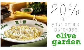 printable olive garden coupons olive garden coupon 20 off your entire purchase more dining