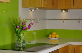 lime glass upstand that co ordinates perfectly with our