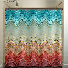 Turquoise Shower Curtain Abstract Turquoise Brown Shower Curtain From Tablishedworks On