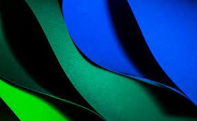 wallpaper biru hijau gambar sayap abstrak daun gelombang garis hijau warna biru