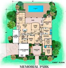 memorial park courtyard house plan luxury floor plan