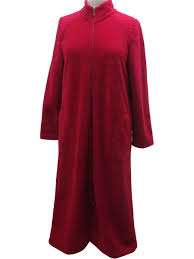 robe de chambre longue robe de chambre roxane zip régence mauve boutique de