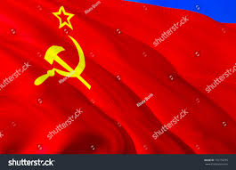 ussr flag 3d waving flag design stock illustration 731734735