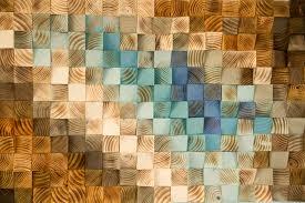 modern wood wall wood mosaic geometric wood decor