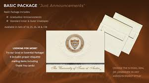 graduation packages of at graduation announcements