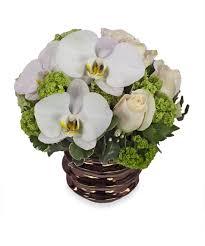 white rose u0026 orchid bouquet veldkamp u0027s flowers exclusive design