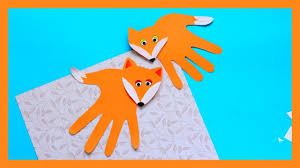handprint fox craft fall crafts for kids youtube