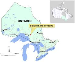 Ontario Canada Map Rt Minerals Corp Ballard Lake Property Map And Photo Gallery
