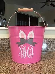 monogrammed easter buckets personalized easter metal easter monogrammed pink