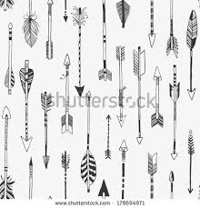 arrow set native american indian style stock vector 638115745