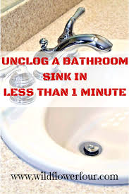 How To Fix A Slow Bathroom Sink Drain Clogged Bathroom Sink