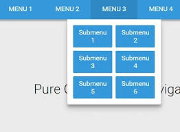 responsive design css material style responsive dropdown navigation with css css