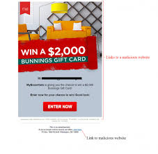 gift card email mailshark corporation win a bunnings gift card email scam