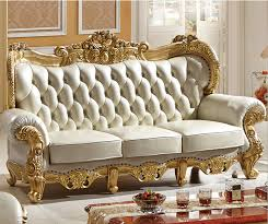 cheap livingroom sets carved solid wood and italian leather sofa sets 9808 in living