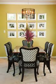 Antique Dining Table And Chairs Transformed With New Trellis - Black lacquer dining room set