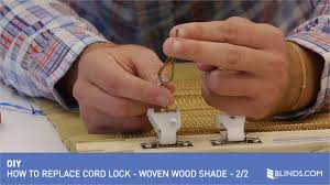 Replacement Cords For Blinds How To Replace A Cord Lock On A Woven Wood Shade 2 Of 2 U0026raquo