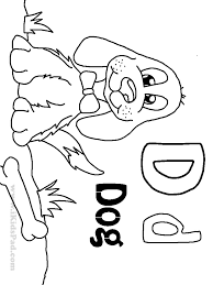 6 best images of printable coloring pages letter d letter d
