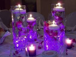 Water Bead Centerpieces by Wedding Centerpieces With Purple Submersible Led Lights Healthy