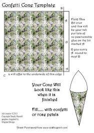 confetti cone template wedding templates cup60776 593