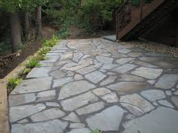 Bluestone Patio Designs by Flagstone Patio On Concrete Home Design Ideas And Pictures
