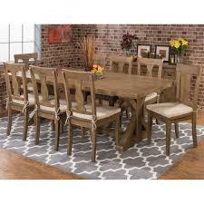 jofran 941 97 slater mill pine reclaimed pine trestle dining table