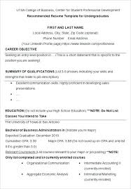Resume Summary For College Student Sample Resume For College Download Sample Of College Student