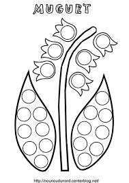 coloriage à dessiner muguet maternelle