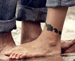 34 unique elephant tattoos on leg